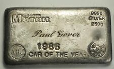 ABC Australian Bullin Company old pour 250grams silver bar made for Modern Motor