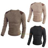 UK Mens Winter Warm Jumper Fashion Crew Neck Sweater Knitwear Pullover Cardigan