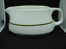 MAYFLOWER BY GRINDLEY GRAVY BOAT WHITE W/ GREEN TRIM