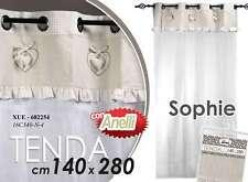 TENDA ARREDO SOPHIE CON ANELLI DECORO CUORE 140*280CM TSC-682254