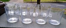 Set of 8 Pasabahace Rocks Low Ball Old Fashioned Rocks Glasses  2 Rows 8 Panels