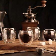 Espresso Cup Hand Blown Set, 6 x Stylish Glass Espresso Cups 80ml U.K. F&F
