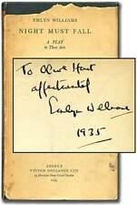 Emlyn WILLIAMS / Night Must Fall Signed 1st Edition 1935