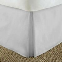 Light Gre Solid- 800 TC Box Pleated Valance/Bed Skirt - SINGLE DOUBLE QUEEN KING