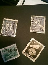 1950 Used Poland Stamps (4) commemorative SG 672/681/695/696