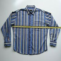 Bugatchi Uomo Mens Size L Long Sleeve Button Up Multicolor Striped Shirt