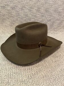 Huckberry Stetson John Wayne Stageline Hat Oak 7 1/2 Cowboy