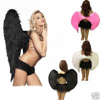 Fancy Dress Angel Fairy Feather Wings Halo Tutu Costume Outfit Hen Party