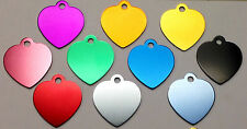 100 Bulk ID Wholesale Heart Pet identification tags Anodized Aluminum FAST SHIP