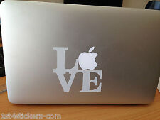 2 X Amor Stickers / Calcomanías ideal para una Mac Book / aire