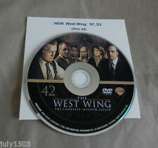 (1) NEW West Wing Season 7 Disc 3 Replacement DVD (Disc 42) - Single Disc