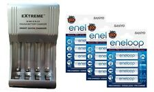 AA/AAA FAST 509 BATTERY CHARGER + 12 x AA ENELOOP RECHARGEABLE BATTERIES 2100 CH