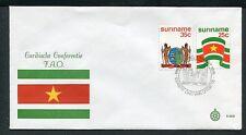 Suriname Republiek FDC E3 - E003_2M, blanco met open klep
