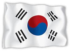 Corea del Sud South Korea Südkorea  bandiera etichetta flag sticker 15cm x 11cm