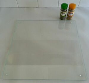 Square Clear & Flat Glass Worktop Saver/Protector -  40 x 40cm - by Pearl Glass