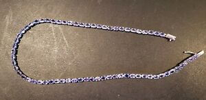 TANZANITE - 21ctw- $8,655 APPRAISAL.NATURAL -TENNIS STYLE necklace