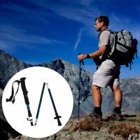 Tri-Fold Hiking Sticks Trekking Pole Climbing Walking Canes Anti-Shock Folding
