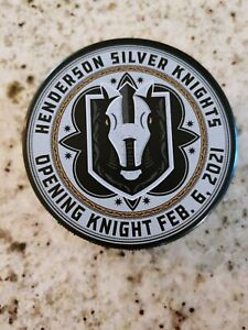 Henderson Silver Knights Inaugural Opening Puck 2/6 Golden Knights AHL Affiliate