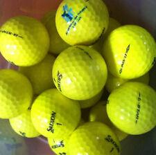 20 YELLOW Srixon Q Star AA-Standard Grade Golf Balls plus10 plastic wedge tees