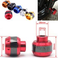 1x Rot Aluminium Alloy Kohlefaser Motorrad Gabel Rahmen Sliders Protector