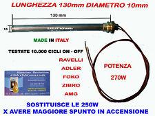 CANDELETTA HT RESISTENZA STUFA PELLET RESISTENZA L130mm ADLER ZIBRO AMG RAVELLI