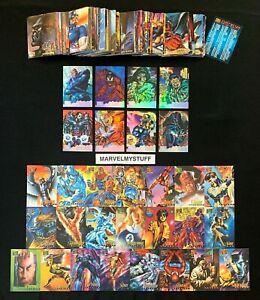 1995 MARVEL MASTERPIECES BASE CANVAS HOLOFLASH SET + CARD SINGLES YOU CHOOSE