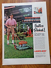 1957 Lawn Mower Ad Lawn-Boy Feature Packed Electric Starter