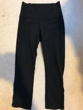 Lululemon Wunder Under Yoga Crop Pants Size 4 BLACK