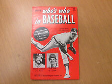 Who's Who in Baseball 1974