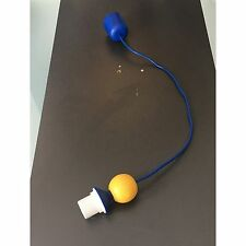 Lampe suspendue bleu jaune bois bille Cordon SUSPENSION DE E27