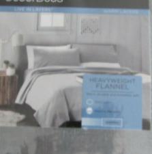 New Full Flannel Sheet Set Gray Plaid Flannel Cuddlduds Heavyweight Flannel