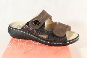 Turm Ladies Mules Slippers Sandals Real Leather Braun New