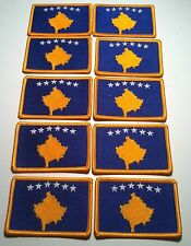 10 KOSOVO Flag Patch with VELCRO® Brand Fastener Morale Tactical Emblem #3