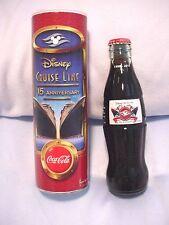 Disney Cruise Line 15th Anniversary Coca Cola Commemorative Bottle & Tube