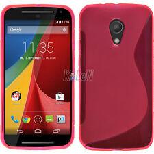 Soft S Line Gel TPU Silicone Case Cover Skin For Motorola Moto Mobile Phones