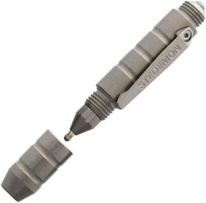 Stedemon EDC Tactical Pen Titanium Body Blasted STEP01BLS