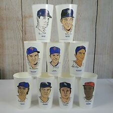 7 Eleven Baseball 1973 Vintage Glasses Mixed Lot 9 Tigers Indians Twins Cubs Sox