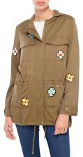 NWT English Factory Olive Patched Rayon  Military Jacket SIZE M