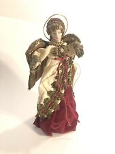 Beautiful Vintage Christmas Angel Decoration Tree Topper Ceramic Head Brs