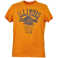 NCAA Illinois Fighting Illini Orange Tshirt Tee Mens Orange Short Sleeve Sports