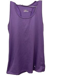 Under armour Stretch Ribbed / Fitted Purple Tank Top Women's Size Large