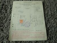 Vintage 1927 H J HEINZ COMPANY Receipt - Kitchen Display Item?