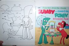 Gumby & Pokey Sticker Book ORIGINAL PAGE ART `68 Ben Greenberg State Fair Trophy