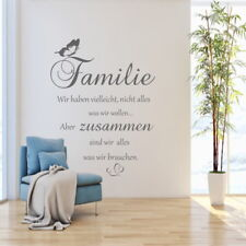 Wandschnörkel® AA413  Wandtattoo Wandaufkleber  FAMILIE  ... Sprüche  Zitate