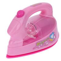 Mini Electric Iron Light-up Simulation Kids Children Play House Toy L&6
