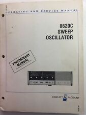 HP 8620C Sweep Oscillator Operating & Service Manual P/N 08620-90034