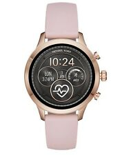 New Michael Kors Runway Rose Gold Tone Pink Silicon Ladies SmartWatch MKT5048