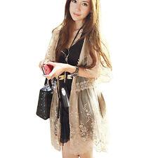 New Fashion Women Sheer Summer Lace Sleeve Long Cardigan Shirt Tops Blouse Coat