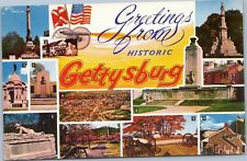 Greetings from Historic Gettysburg, PA Multi-view postcard