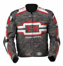 Teknic Freestyle Stunt Jacket Motorbike Camo Red Grey $399.95 Size 46 / 2XL